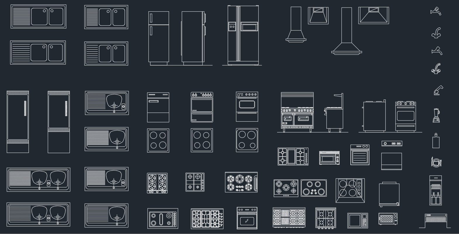 Kitchen Equipment Free Cad Block And Autocad Drawing