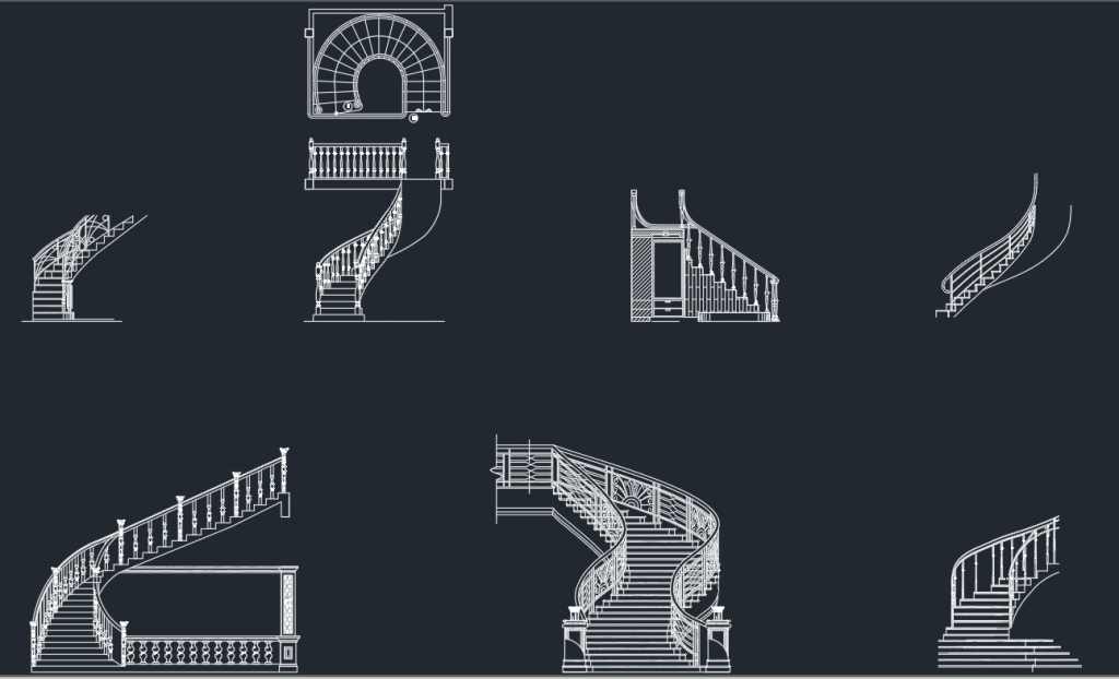 Stairs Cad Blocks Free Cad Block And Autocad Drawing