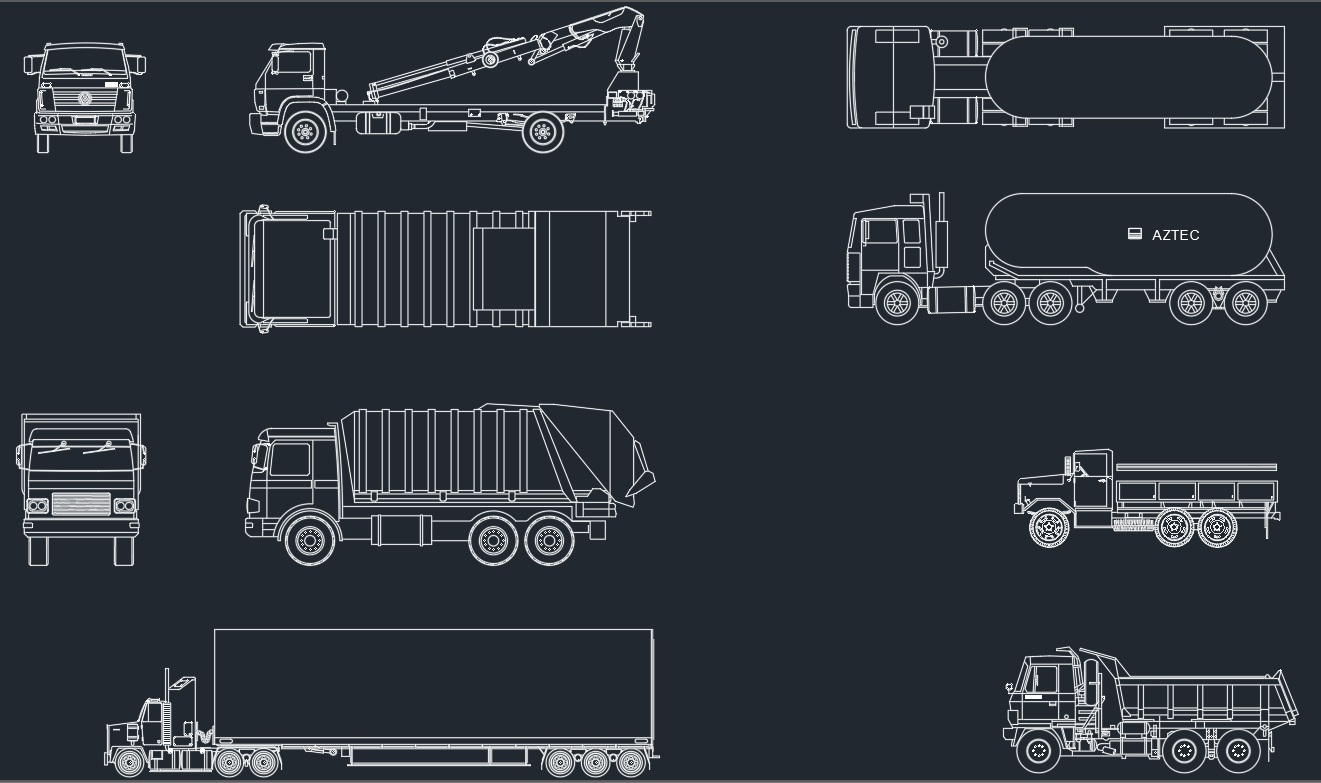 Trucks Cad Blocks Cad Block And Typical Drawing For