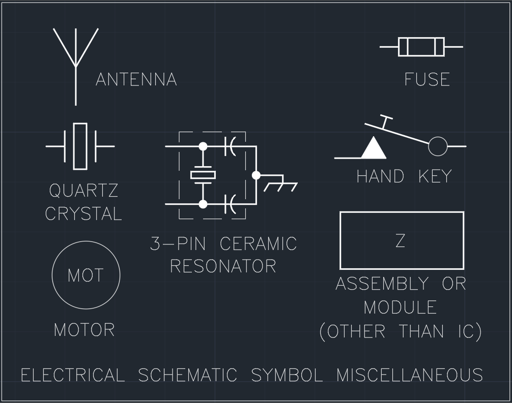 Electrical Schematic Symbol Miscellaneous