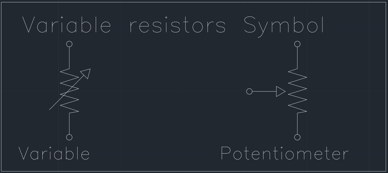 variable resistors symbol free cad blocks and cad drawing