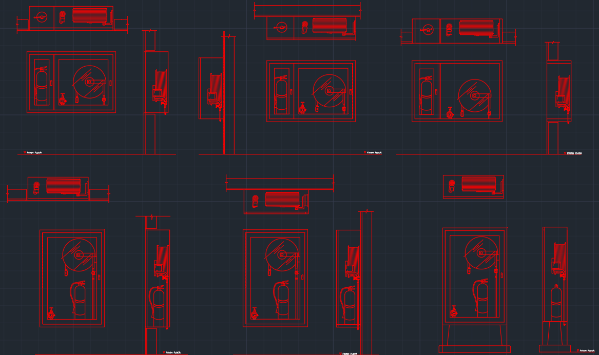 Fire hose cabinet free cad blocks and cad drawing fire hose cabinet buycottarizona