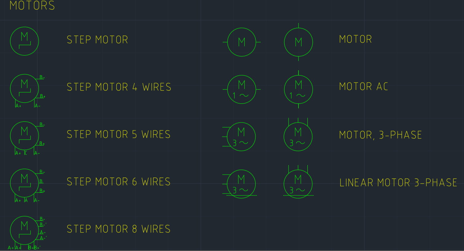 Motor Symbol Free Cad Blocks And Cad Drawing
