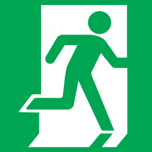 Fire Exit Sign - Running Man Right