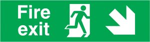 Fire Exit Running Man Right Arrow Right Down