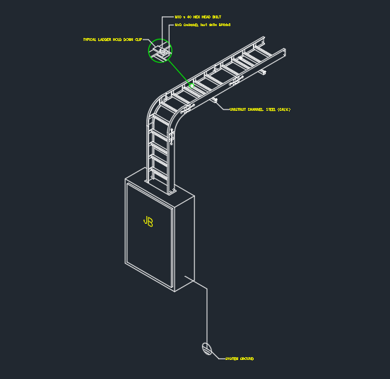 Cable Tray Installation Free Cad Blocks And Cad Drawing
