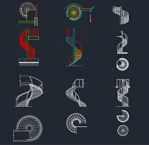 Spiral Stairs CAD Blocks