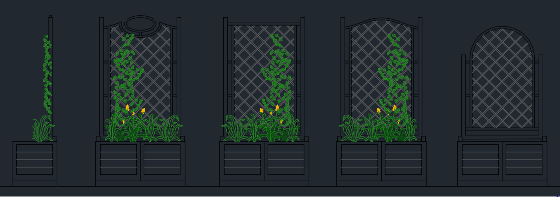 Flower Beds And Fences