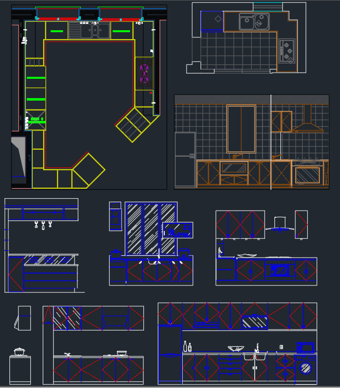 Kitchen Elevation Free Cad Blocks And Cad Drawing