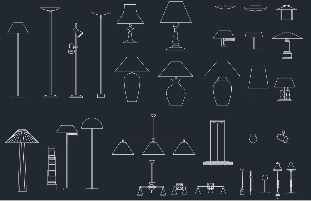 Wall Lights CAD Blocks Free CAD Block And AutoCAD Drawing