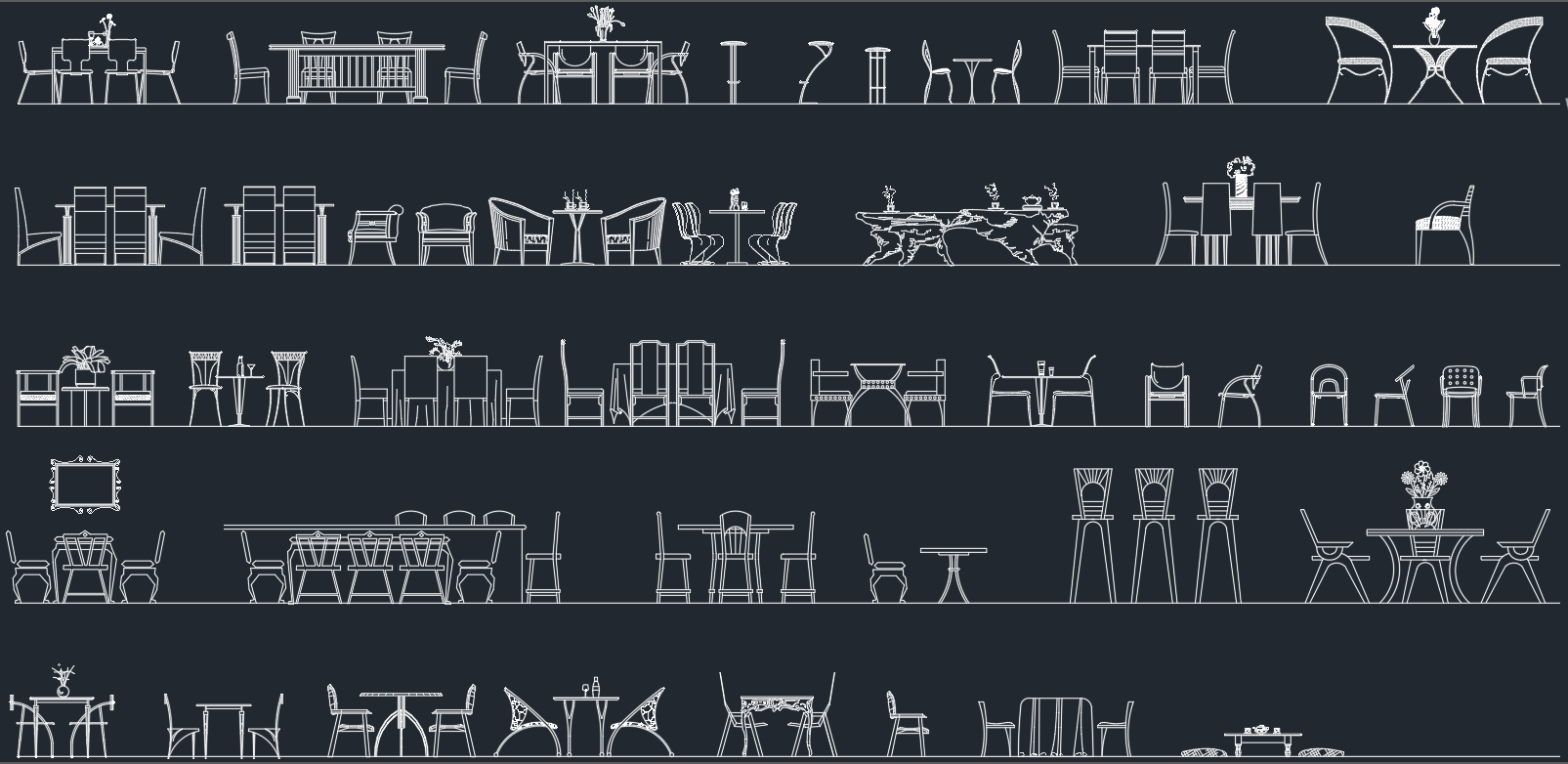 Tables And Chairs CAD Blocks Free CAD Blocks And CAD  : tablesandchairs from www.linecad.com size 1605 x 782 png 277kB