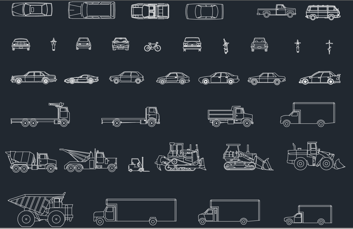 Vehicles cad blocks free cad blocks and cad drawing for Online cad drawing