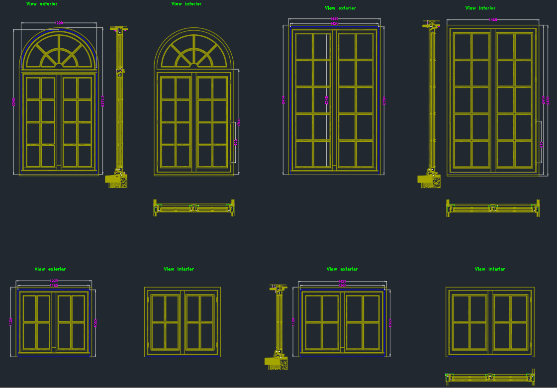 Door dwg doors elevation cad blocks sc 1 st cad for Window elevation