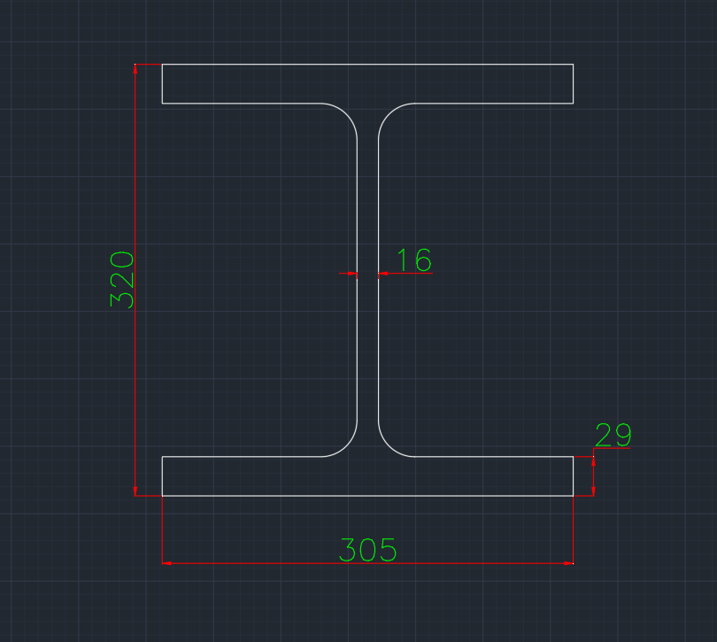 Wide Flange European (HE-C) In dwg file format for AutoCAD and other 2D Software