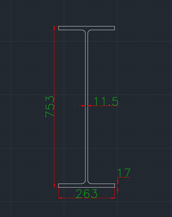 Wide Flange European (IPE-WT) In dwg file format for AutoCAD and other 2D Software