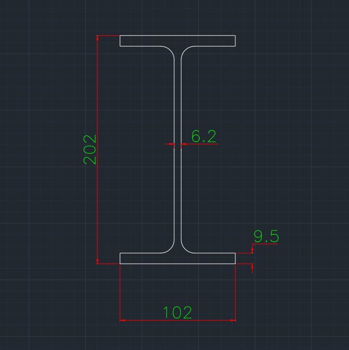 Wide Flange German (IPEO) In dwg file format for AutoCAD and other 2D Software