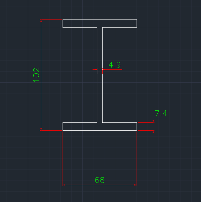 Wide Flange Canadian (S) In dwg file format for AutoCAD and other 2D Software