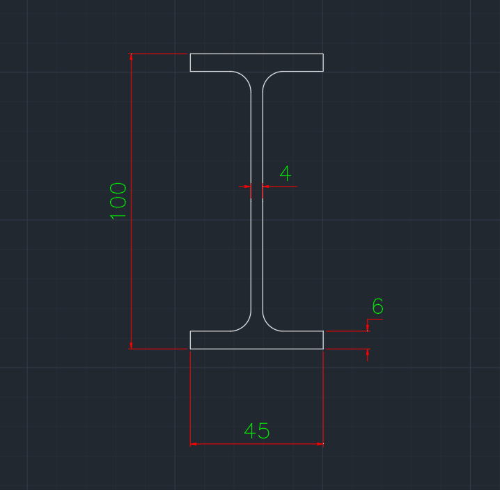 Wide Flange Australian (TFB) In dwg file format for AutoCAD and other 2D Software