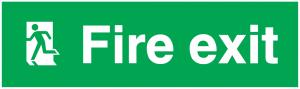 Man Running Left Fire Exit
