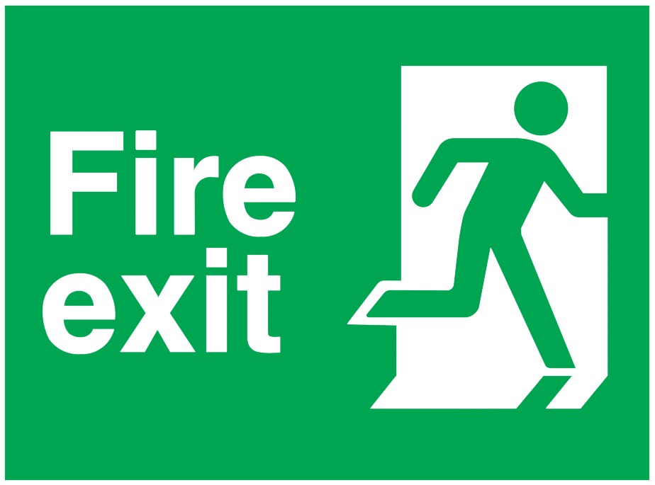 fire exit running man right sign | | CAD Block And Typical