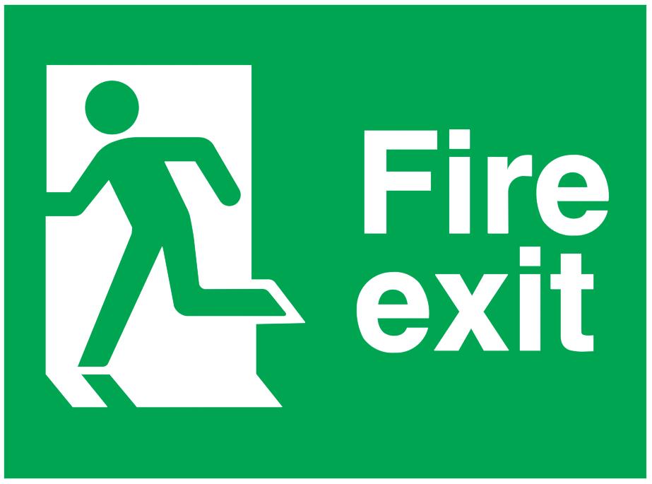 Running Man Left Fire Exit Sign Free Cad Block Symbols