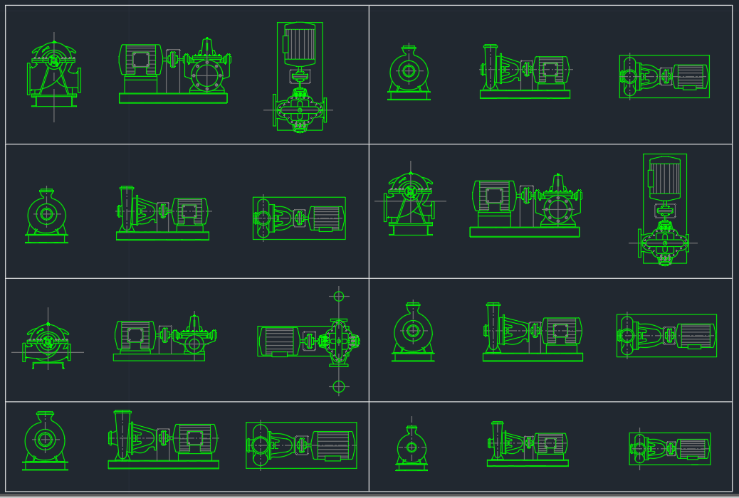 suction pumps free cad blocks and cad drawing