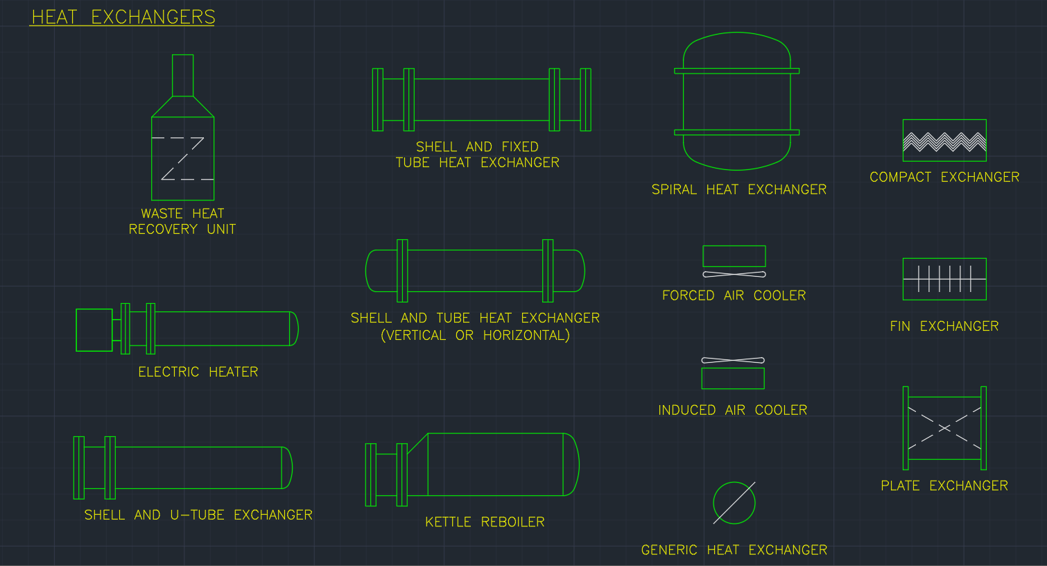 Heat Exchangers Free Cad Blocks And Cad Drawing