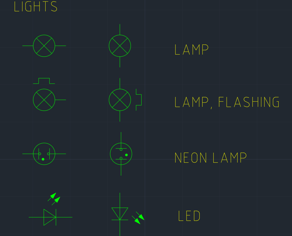Light Symbol Free Cad Blocks And Cad Drawing