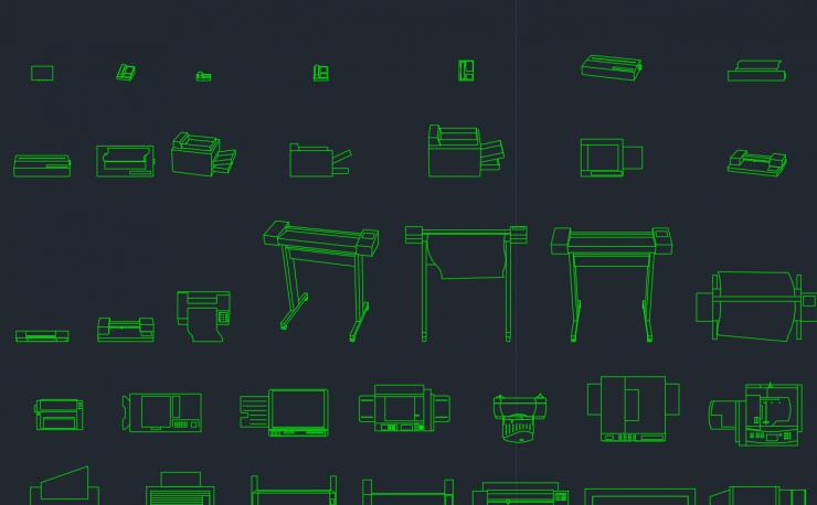 Printer CAD Block