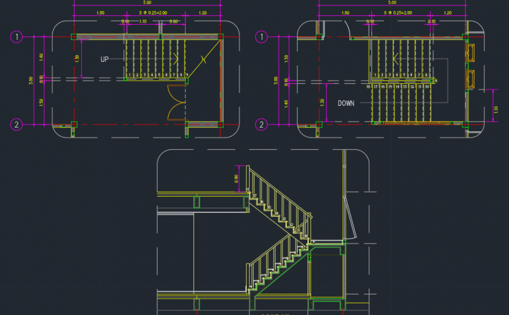 Stairs Free Cad Blocks And Cad Drawing