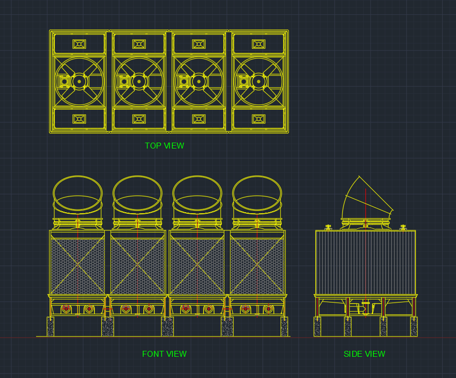 Cooling Towers Free Cad Blocks And Cad Drawing