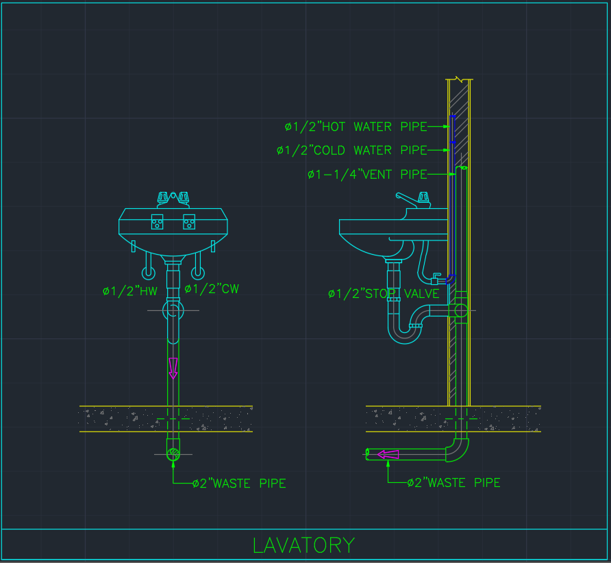 Lavatory Free Cad Blocks And Cad Drawing