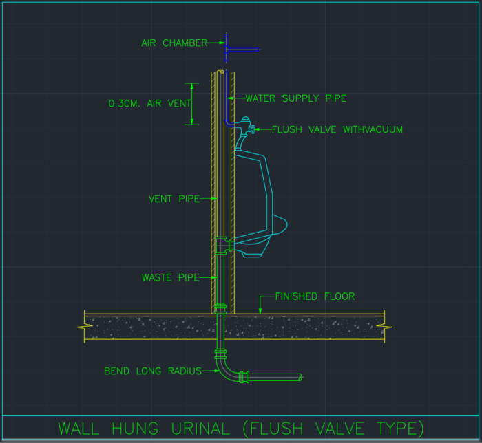 Urinal Cad Block And Typical Drawing For Designers