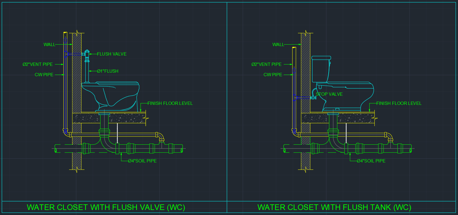 Water Closet Free Cad Blocks And Cad Drawing