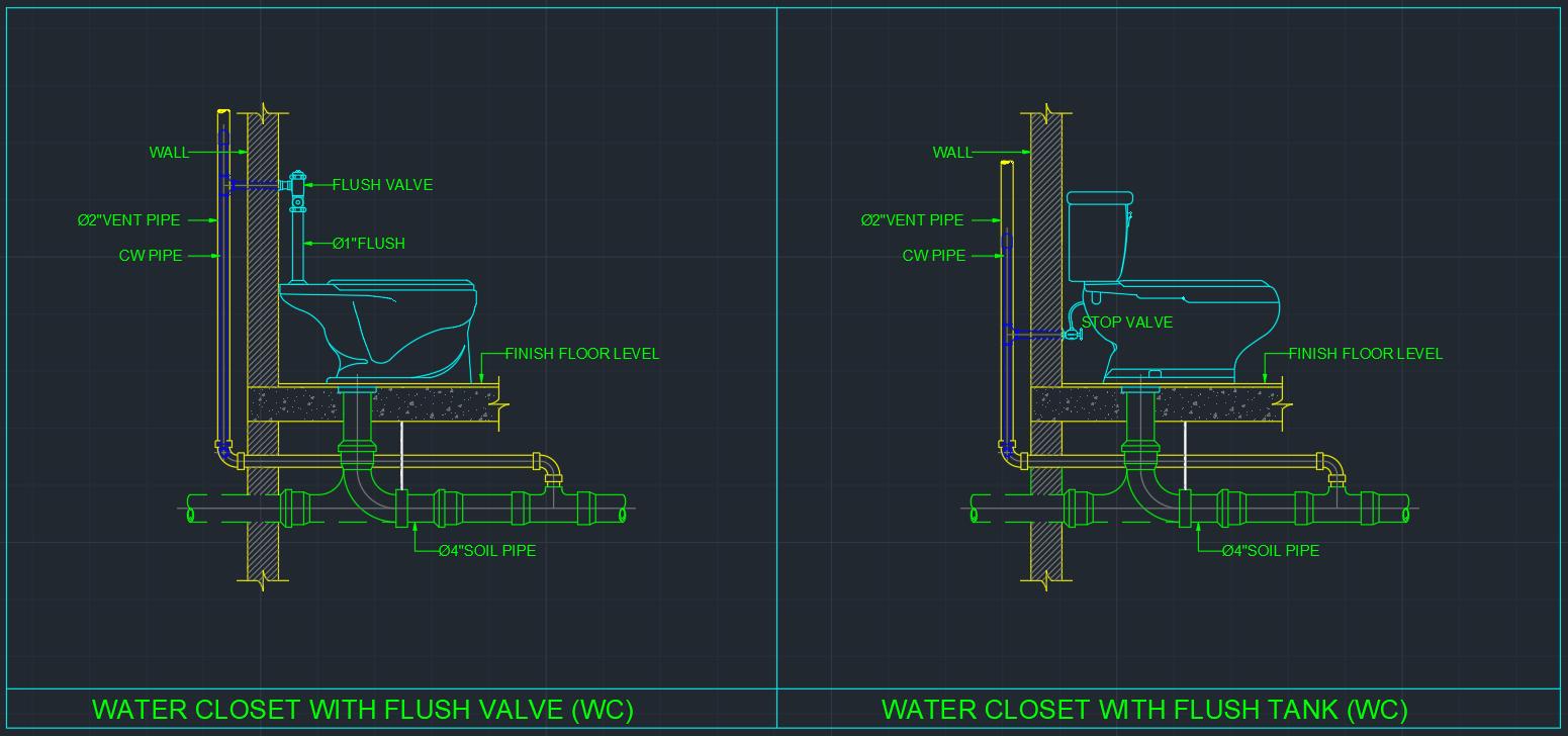 Water Closet Free Cad Blocks And Cad Drawing