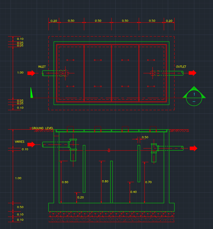 Grease Trap Pit Free Cad Blocks And Cad Drawing