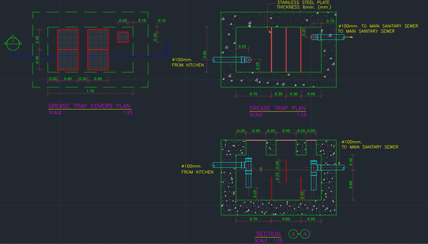 Grease Trap Free Cad Blocks And Cad Drawing