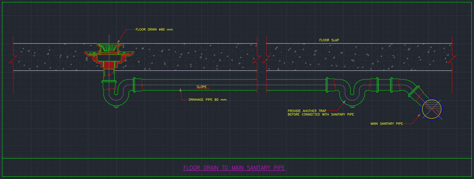 Floor Drain Cad Block And Typical Drawing