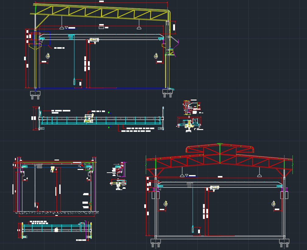 Overhead Cranes Cad Block And Typical Drawing