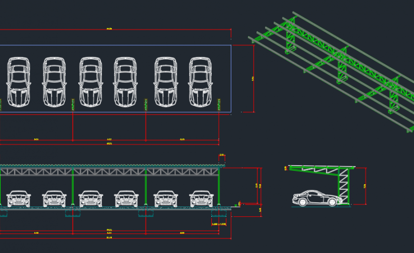 Car Park Cad Block And Typical Drawing For Designers